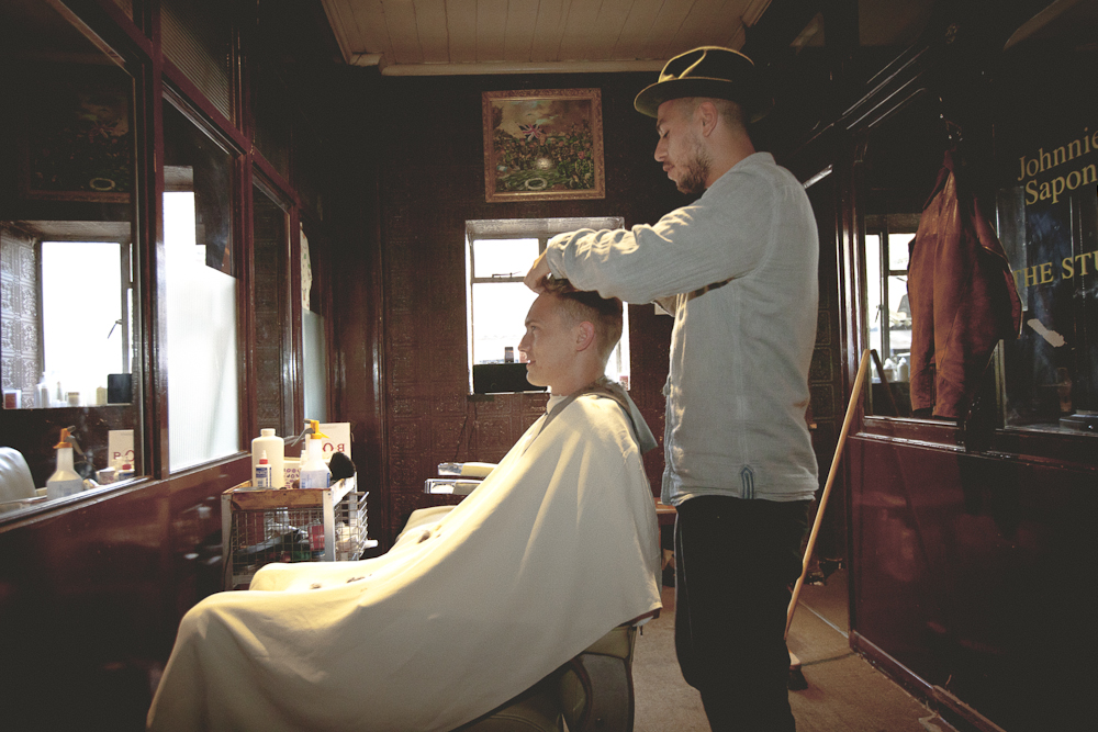 Have your hair cut by Johnnie Sapong