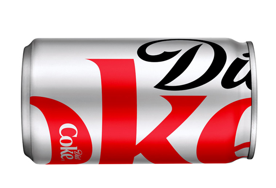 Diet Coke packaging by Turner Duckworth