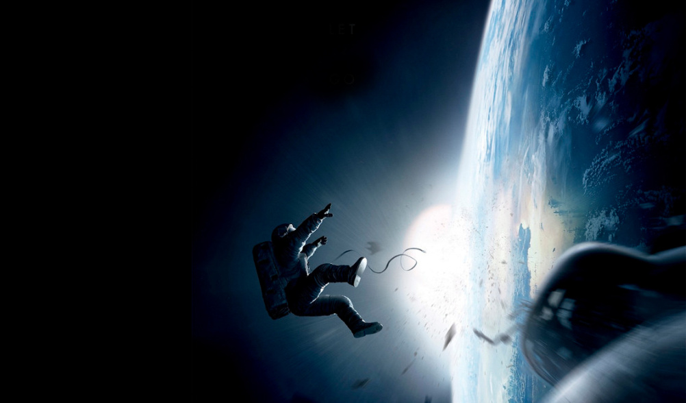 Still from Gravity, which featured production design by Andy Nicholson