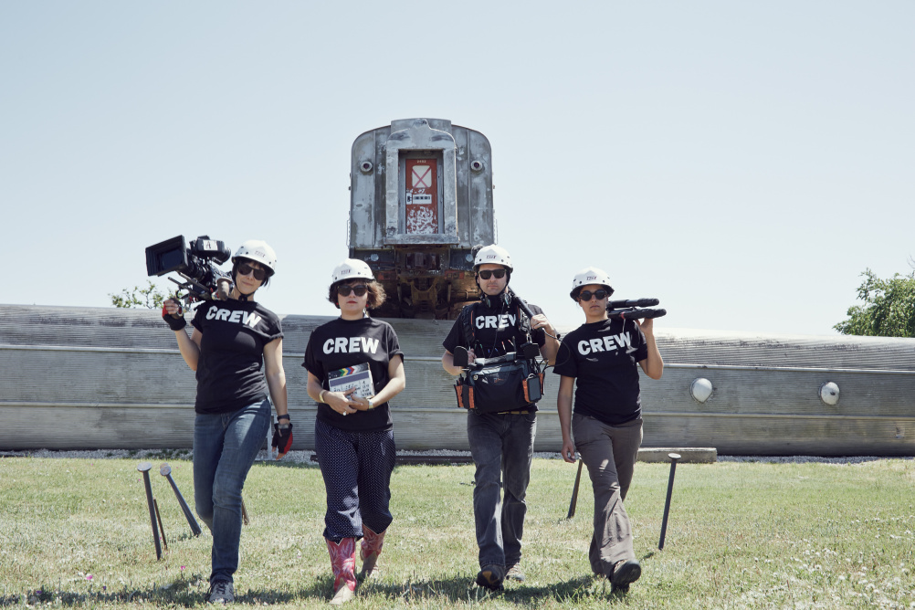 Nelly Ben Hayoun (second left) and the Disaster Playground crew
