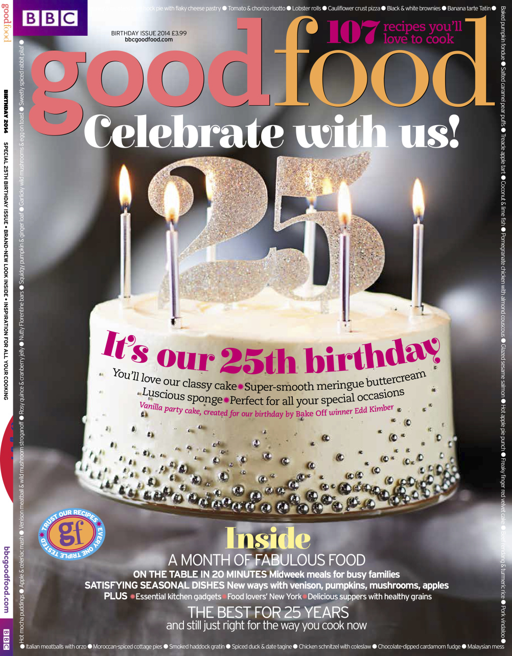 BBC Good Food 25th birthday magazine cover