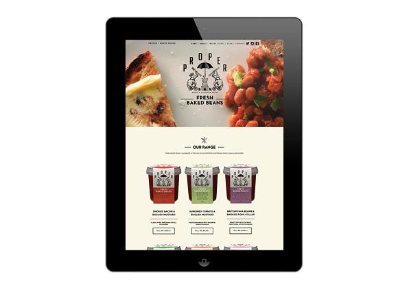 Proper Beans iPad site