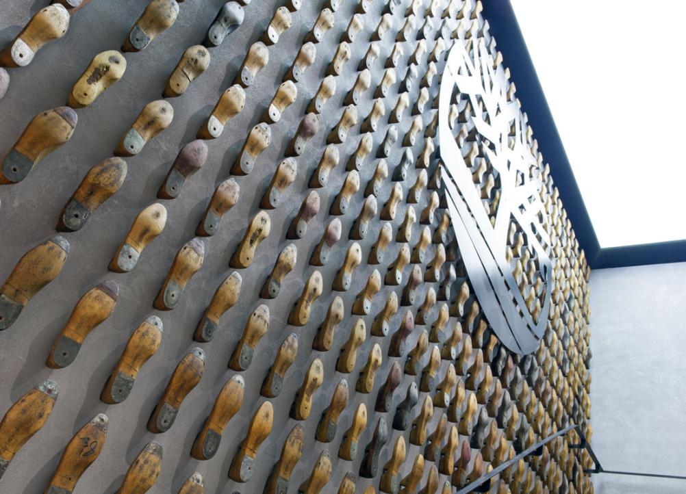 Timberland shoe wall