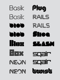 Superfried typefaces