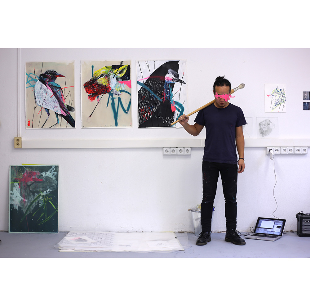 Twoone with his work