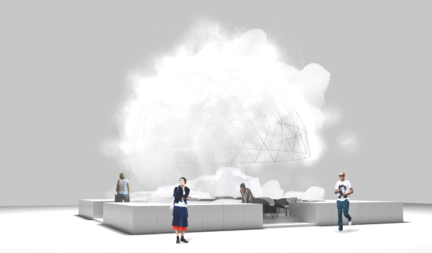 The Foam Dome, designed by vPPR Architects