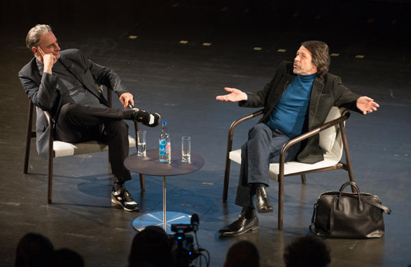 Paul Morley and Peter Saville at last year's Global Design Forum