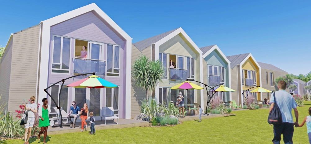 The new chalet design for Minehead