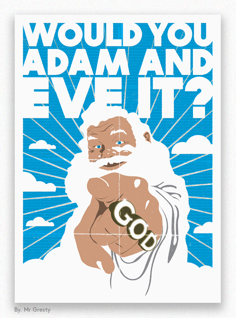 Mr Gresty - Would you Adam and Eve it?