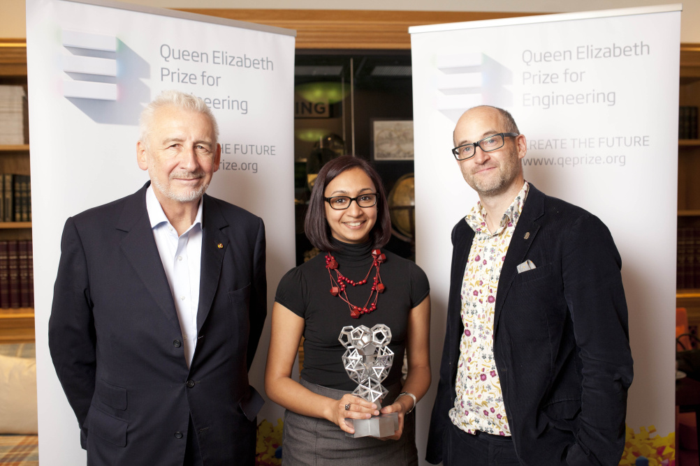Create the Trophy judges Sir John Sorrell, Roma Agrawal and Mark Miodownik