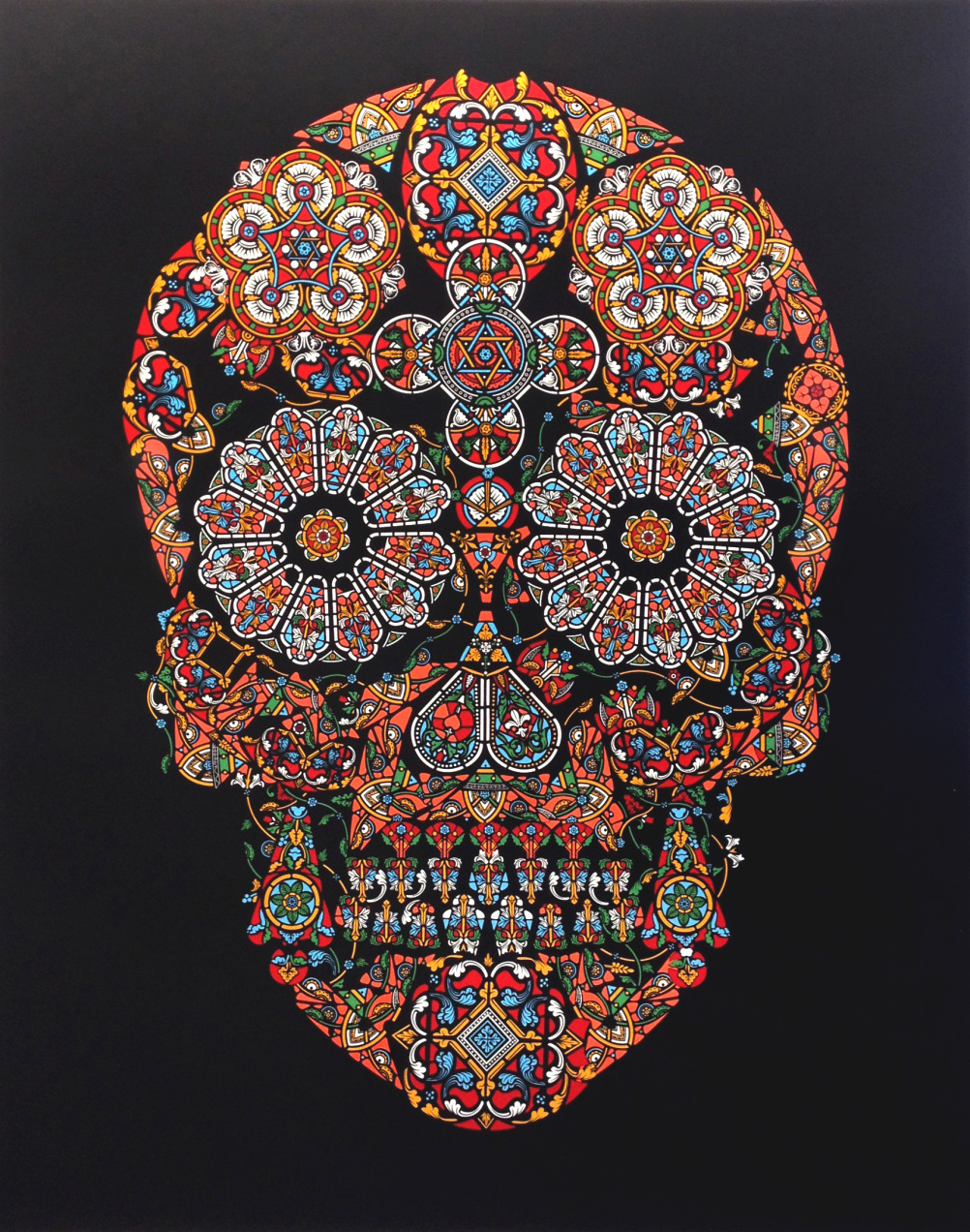 Jacky Tsai Stained Glass Skull 2013