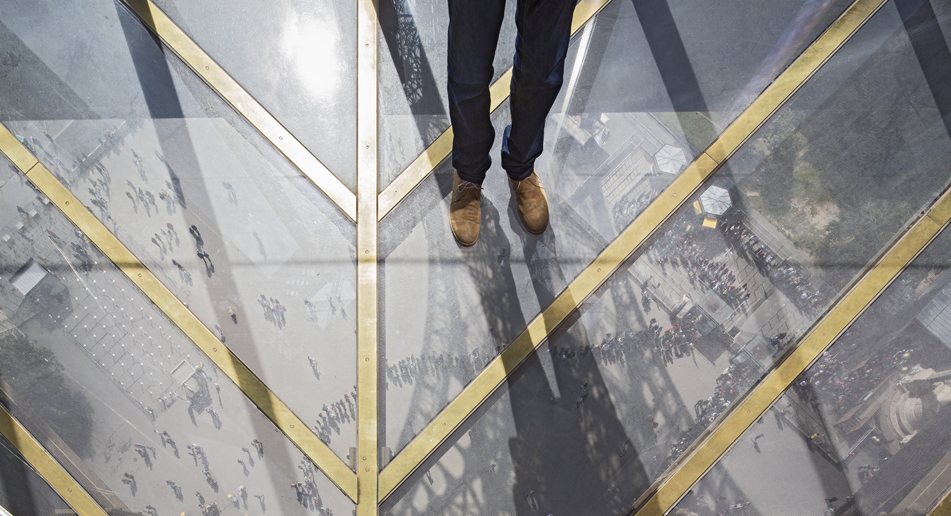The Eiffel Tower's new glass floor