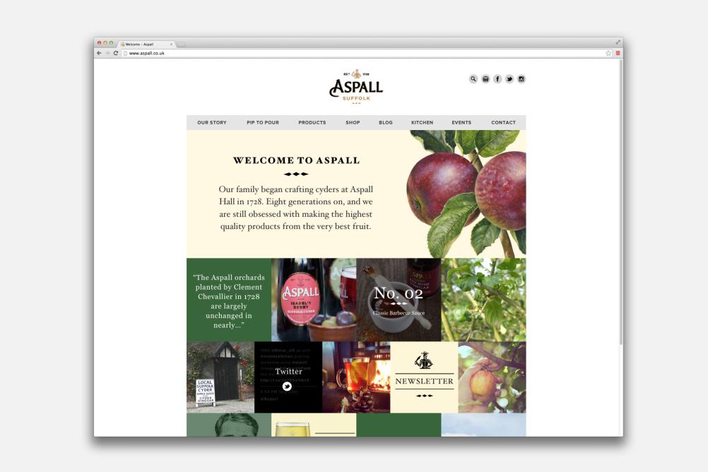 Aspall Website