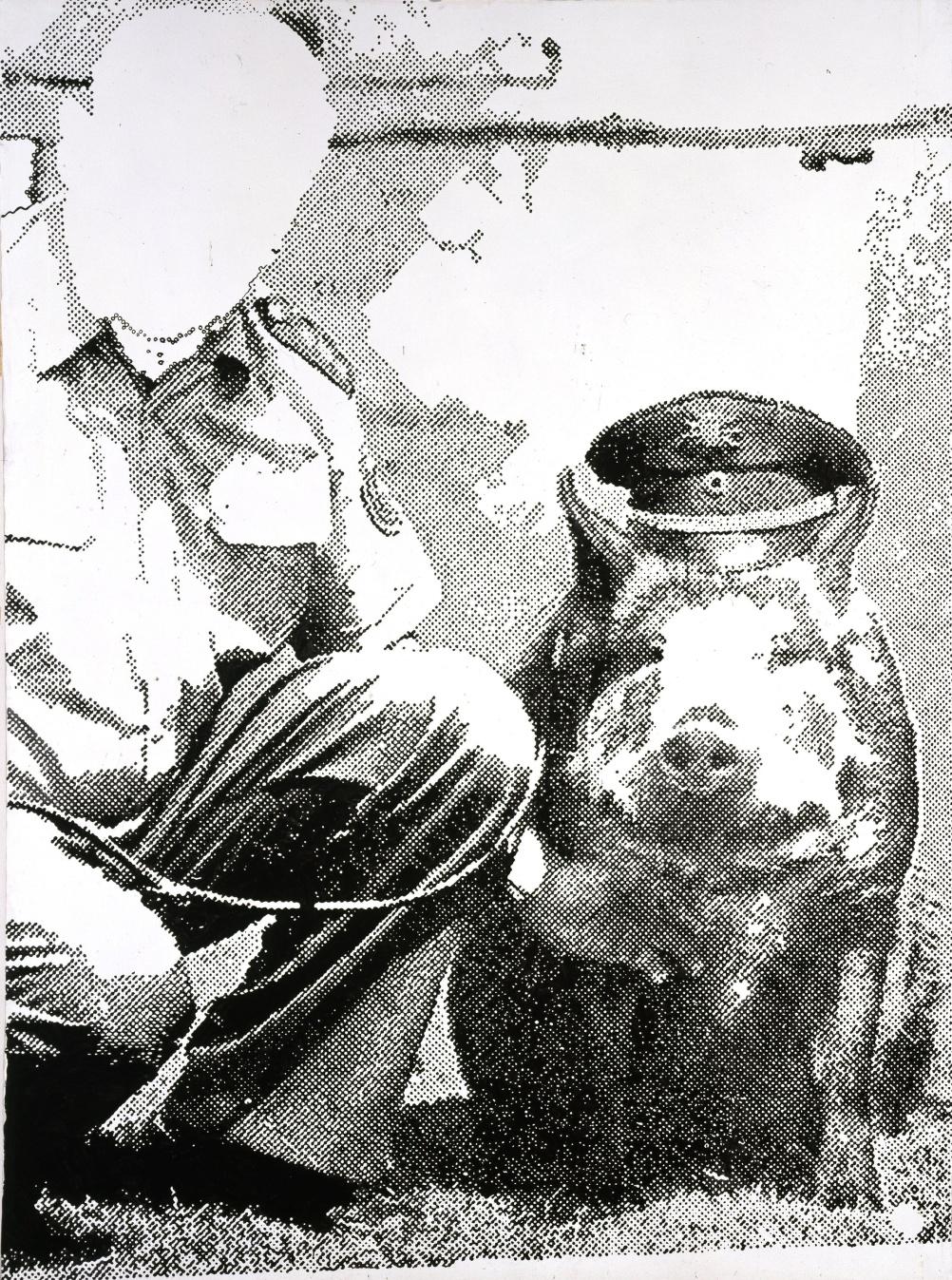 Sigmar Polke (1941 - 2010) Police Pig (Polizeischwein) 1986