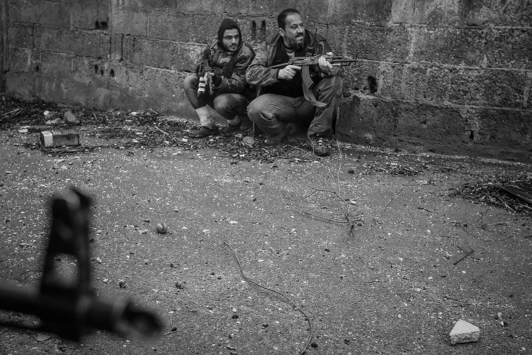 Rebels attack government checkpoint in Syria, by Goran Tomasevic