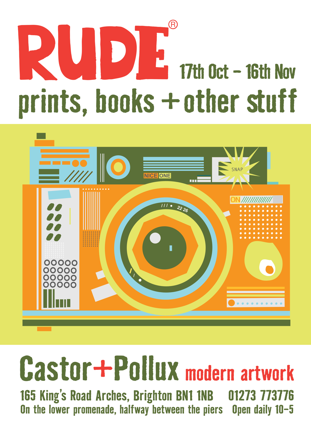 Rude exhibition poster