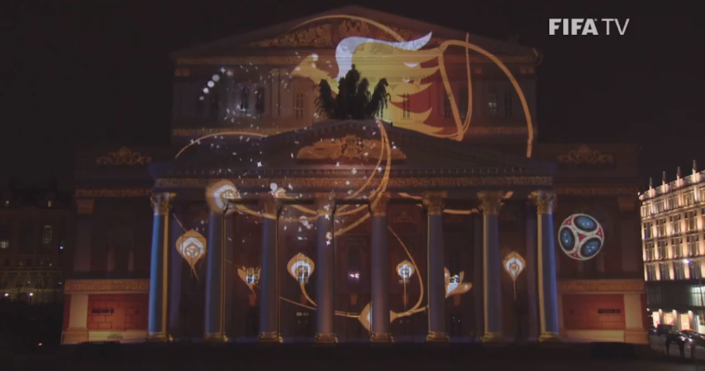 The identity projected on the Bolshoi Theatre