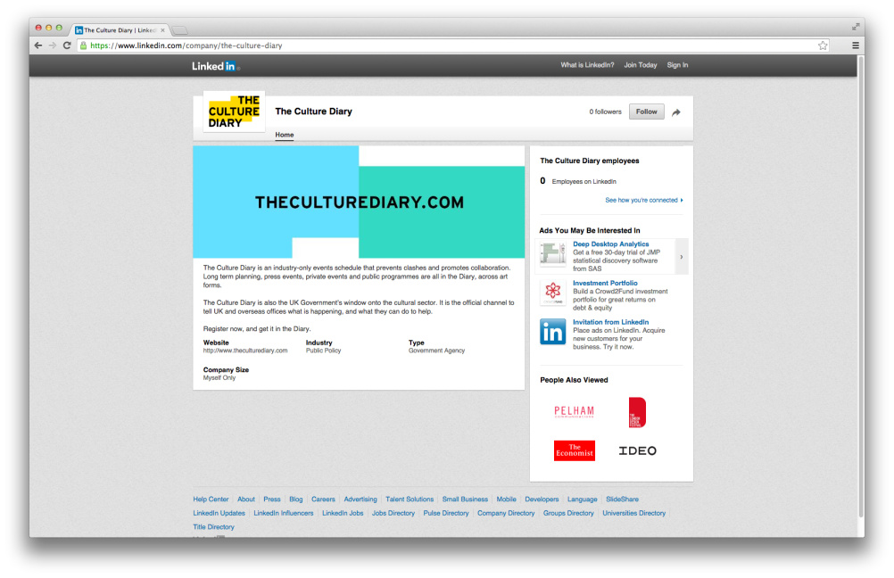 The Culture Diary website