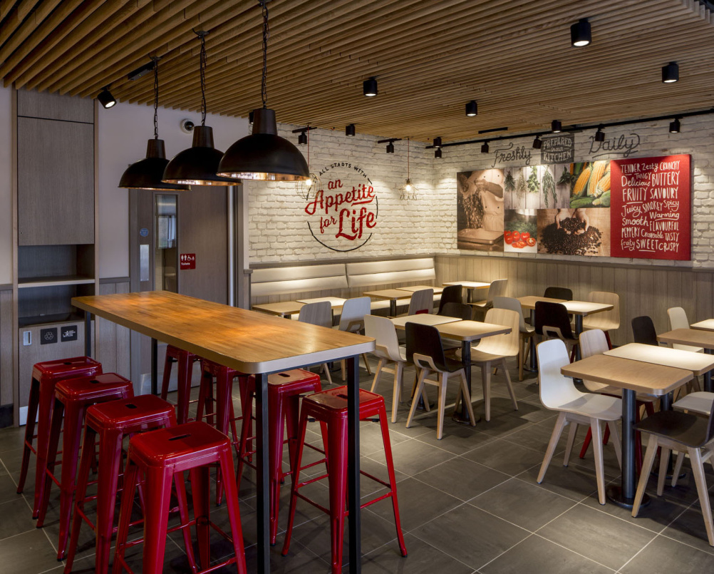 Kfc unveils radical new interior designs design week for Fish furniture outlet