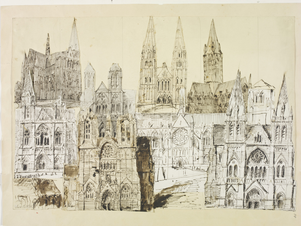 Designs for Truro Cathedral, 1878. William Burges