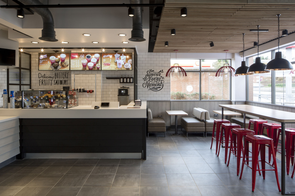 Kfc unveils radical new interior designs design week Kitchen design for fast food restaurant