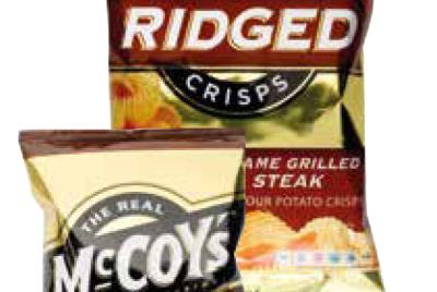 Branded and own-brand crisp packs