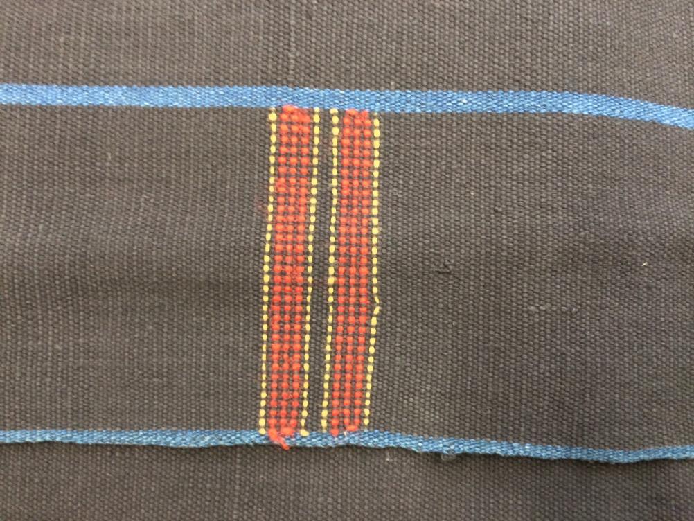 Lhota Naga man's cloth, Wokha, Naga Hills