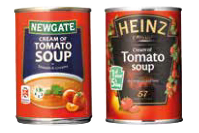 Soup can designs – spot the own-brand