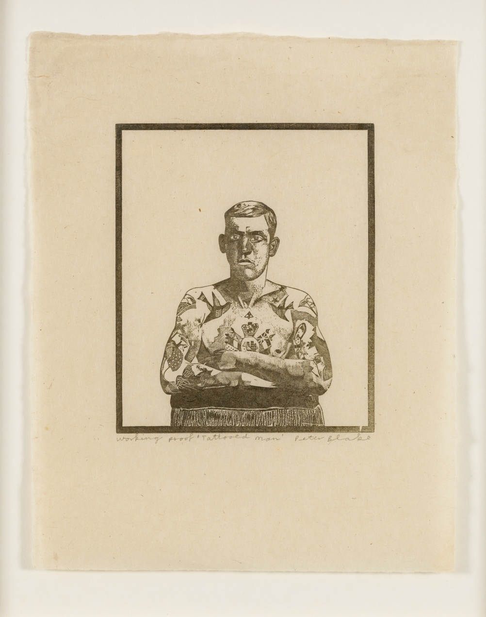 Tatooed Man, from 1974-1978 Side Show collection by Peter Blake