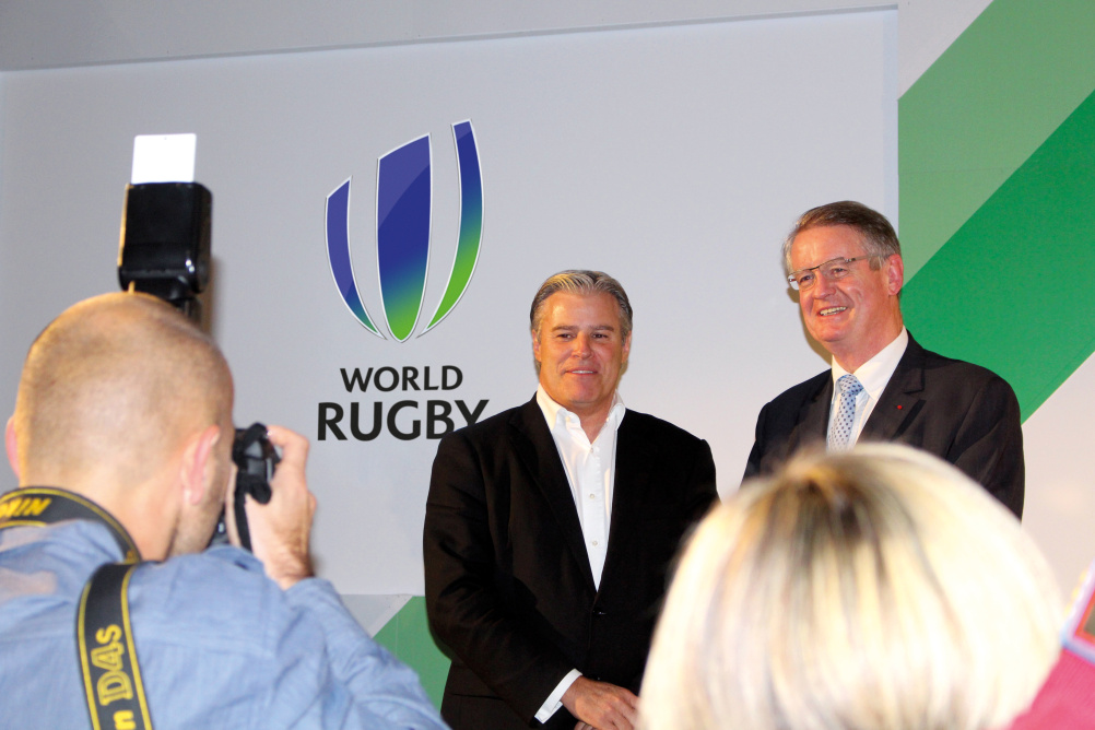 World Rugby CEO Brett Gosper unveils the new identity