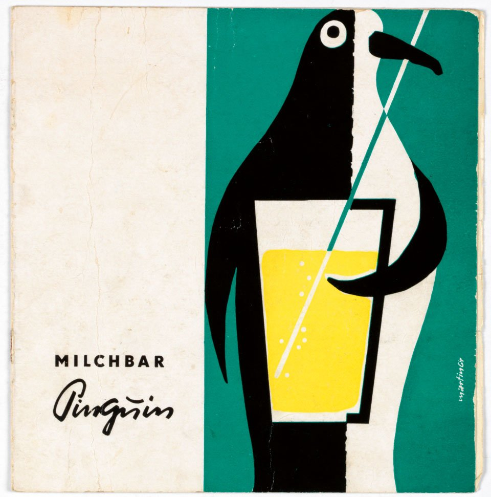 Menu, Milk Bar Penguin, Leipzig, 1960s
