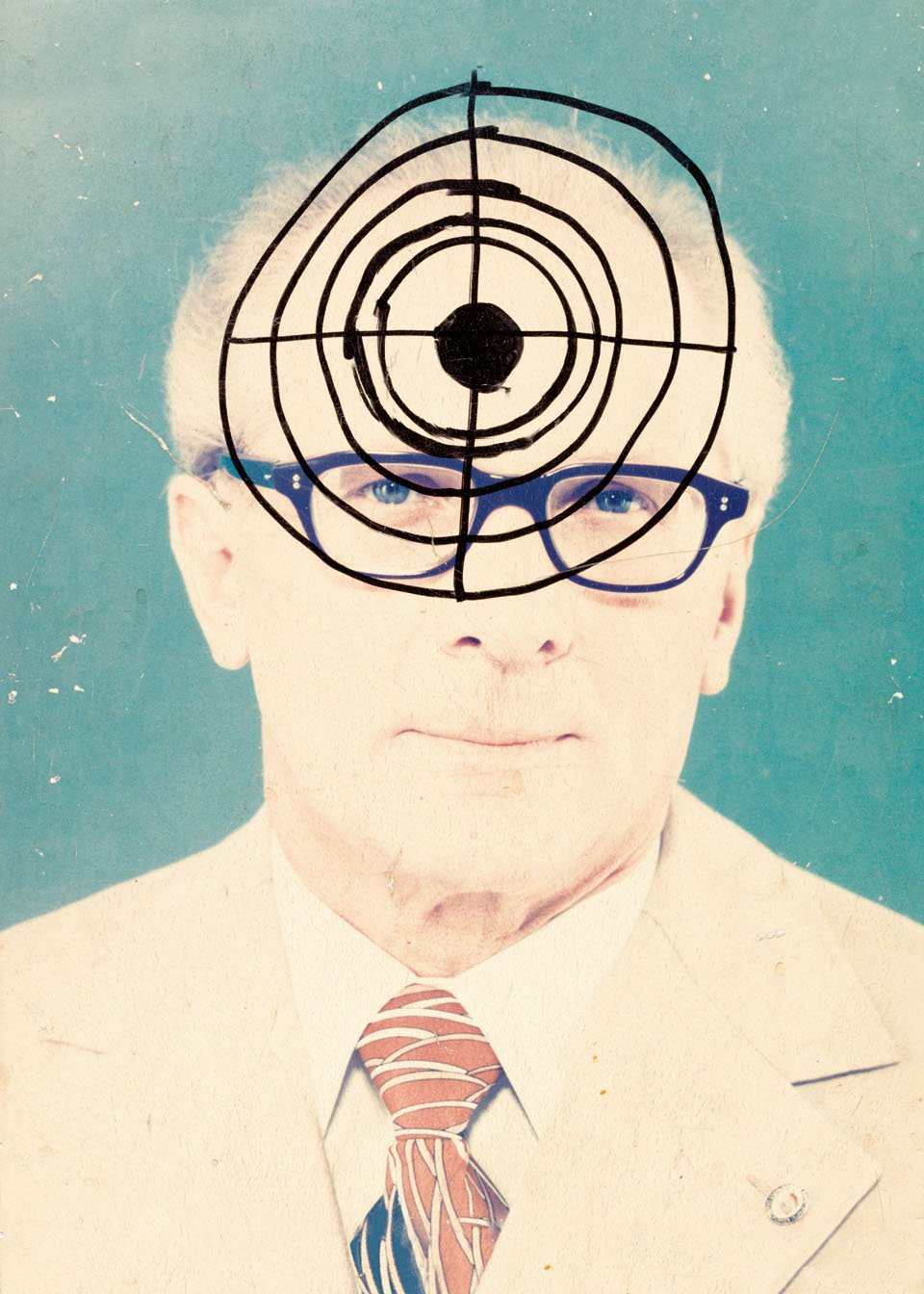 Erich Honecker in the Crosshairs, modified in 1989