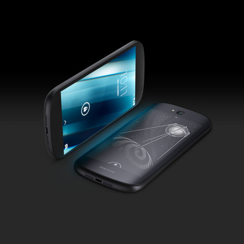 YotaPhone 2 with e-ink screen and interface designed by AllofUs