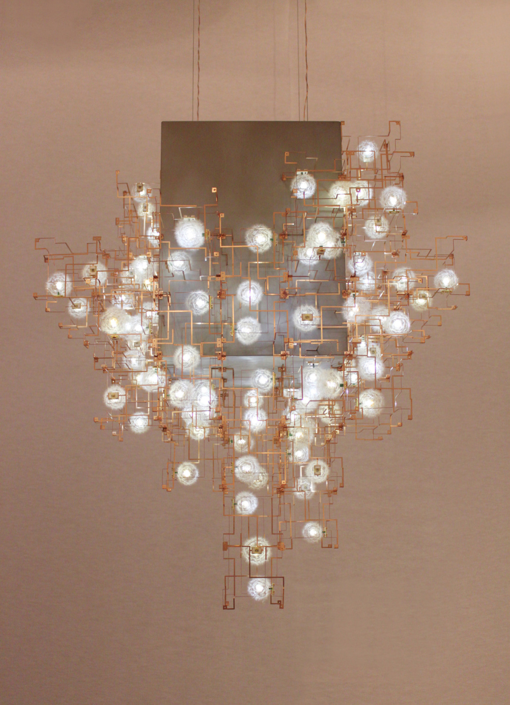 Fragile Future 3 Concrete Chandelier. Studio Drift, 2011