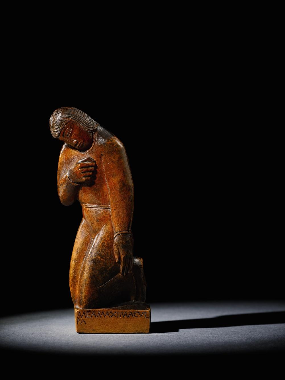 Kneeling Figure 'Mea Maxima Culpa'