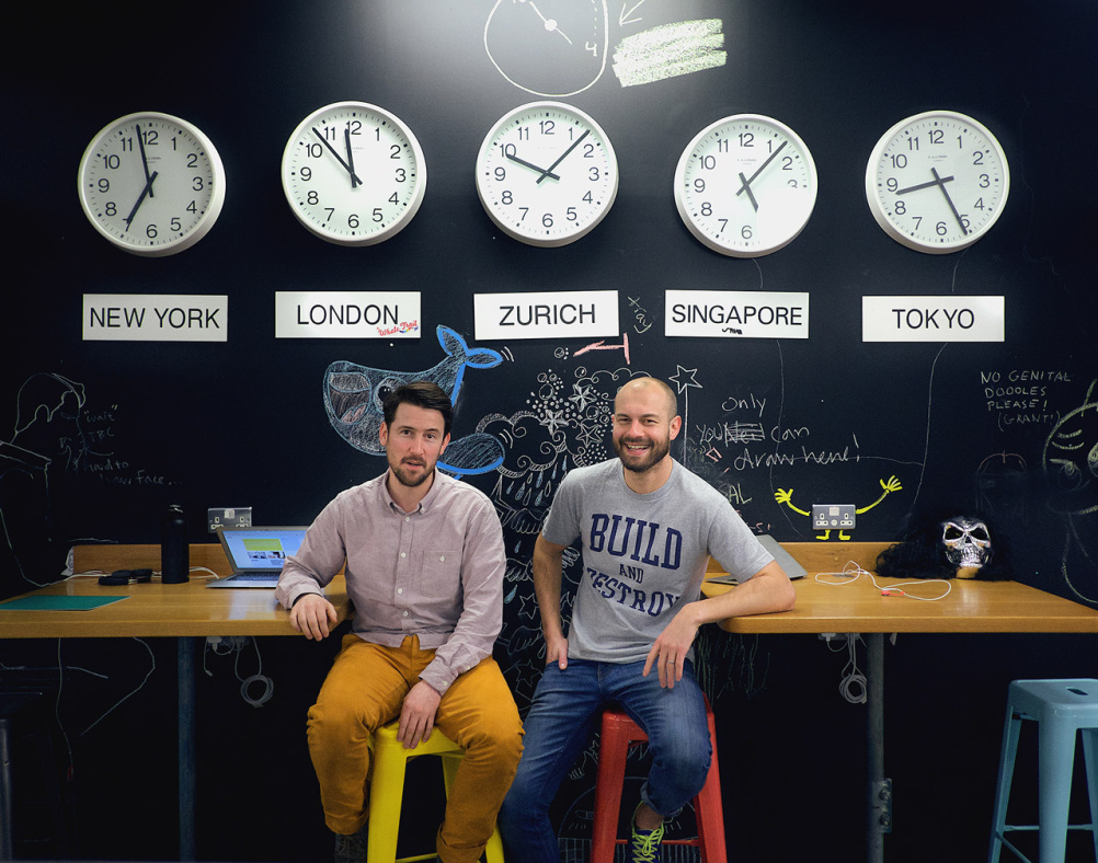 Ustwo co-founders Sinx (left) and Mills
