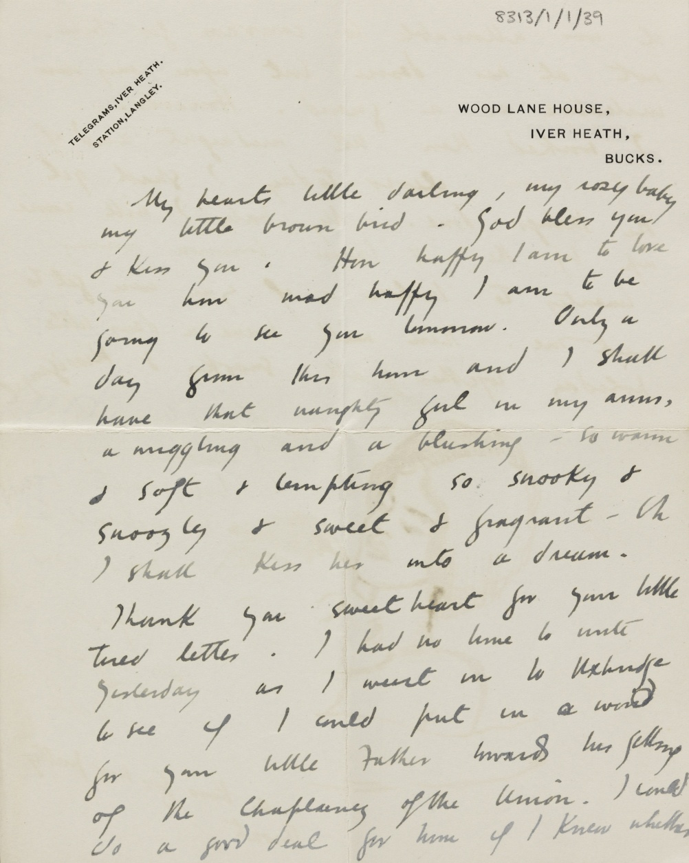 Letter from Paul Nash to Margaret Nash 4 July 1913