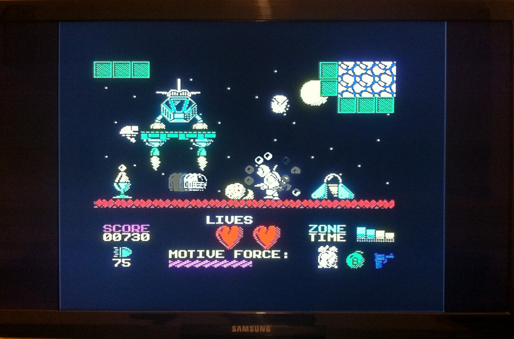 Example of game graphics on the Vega