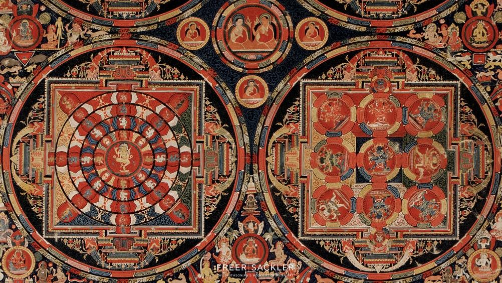 Four Mandala Vajravali Thangka; Tibet, ca. 1430