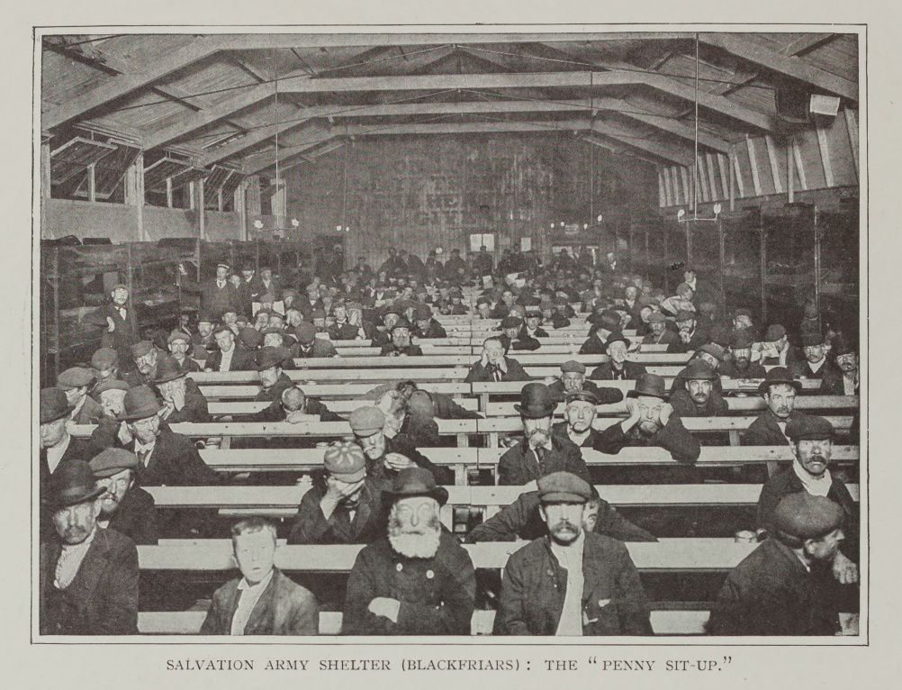 A Penny Situp in a Salvation Army shelter in Blacfriars, London c.1900