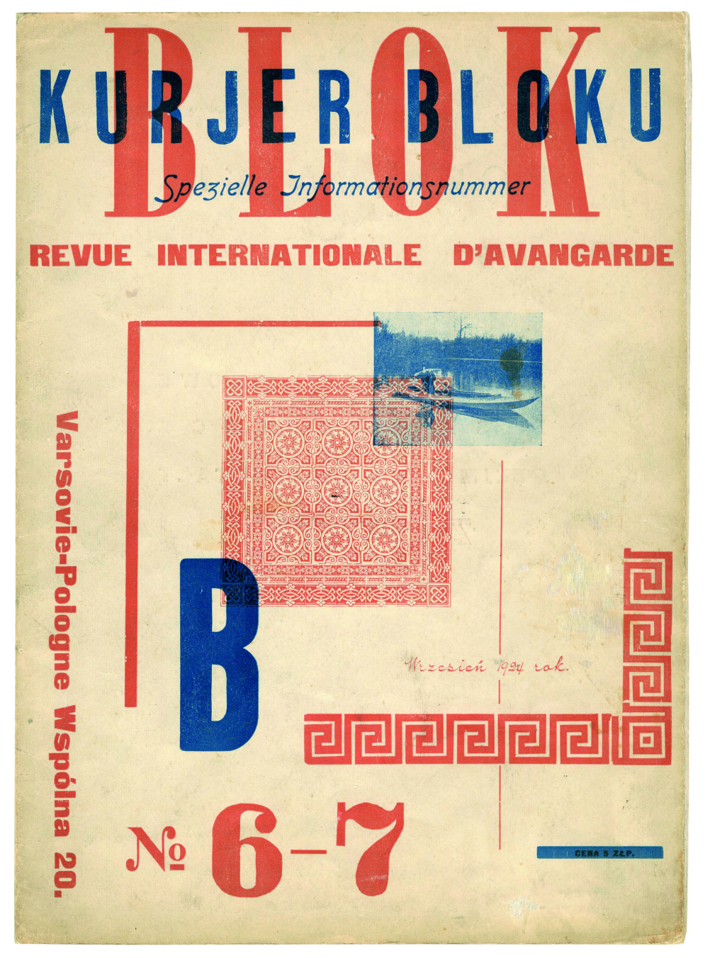 BLOK, n. 6-7 magazine - Warsaw, Poland, 1924