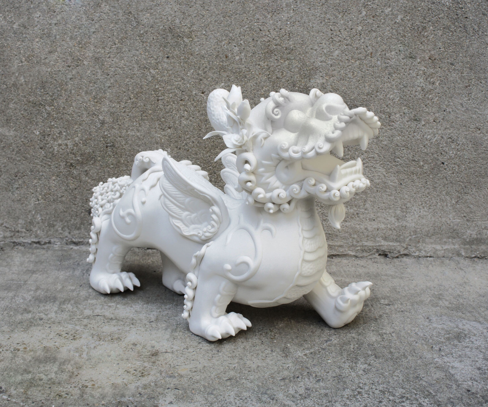 Danful Yang, Girly – Plum Blossom, 2010. White porcelain