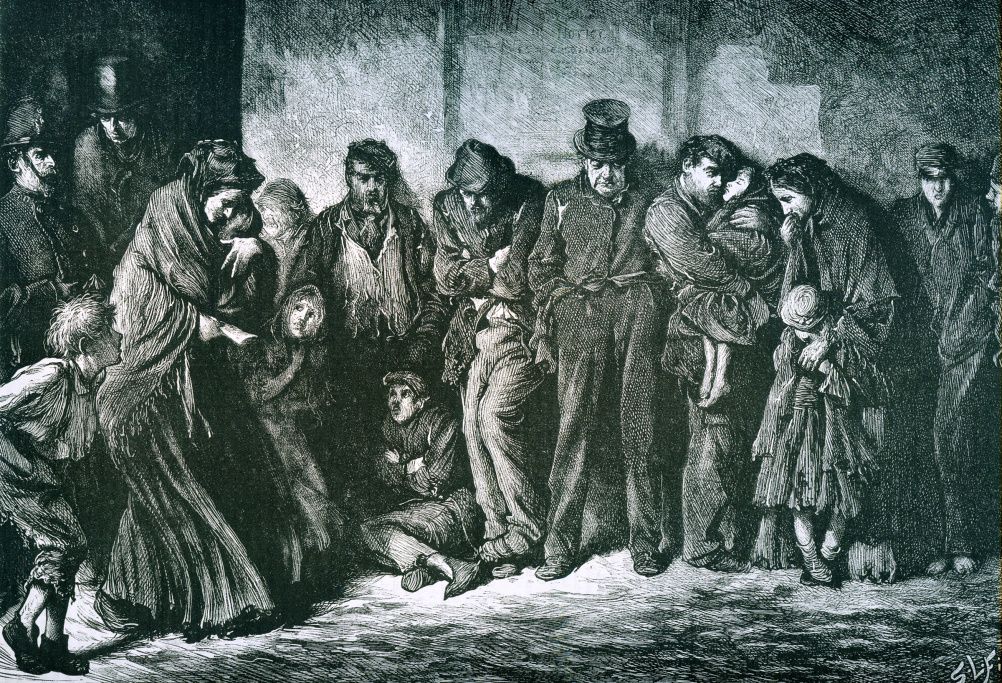 Houseless and Hungry – engraving by Luke Fields 1869
