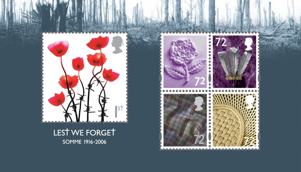 Special Stamps 50th anniversary Royal Mail British Lest we forget