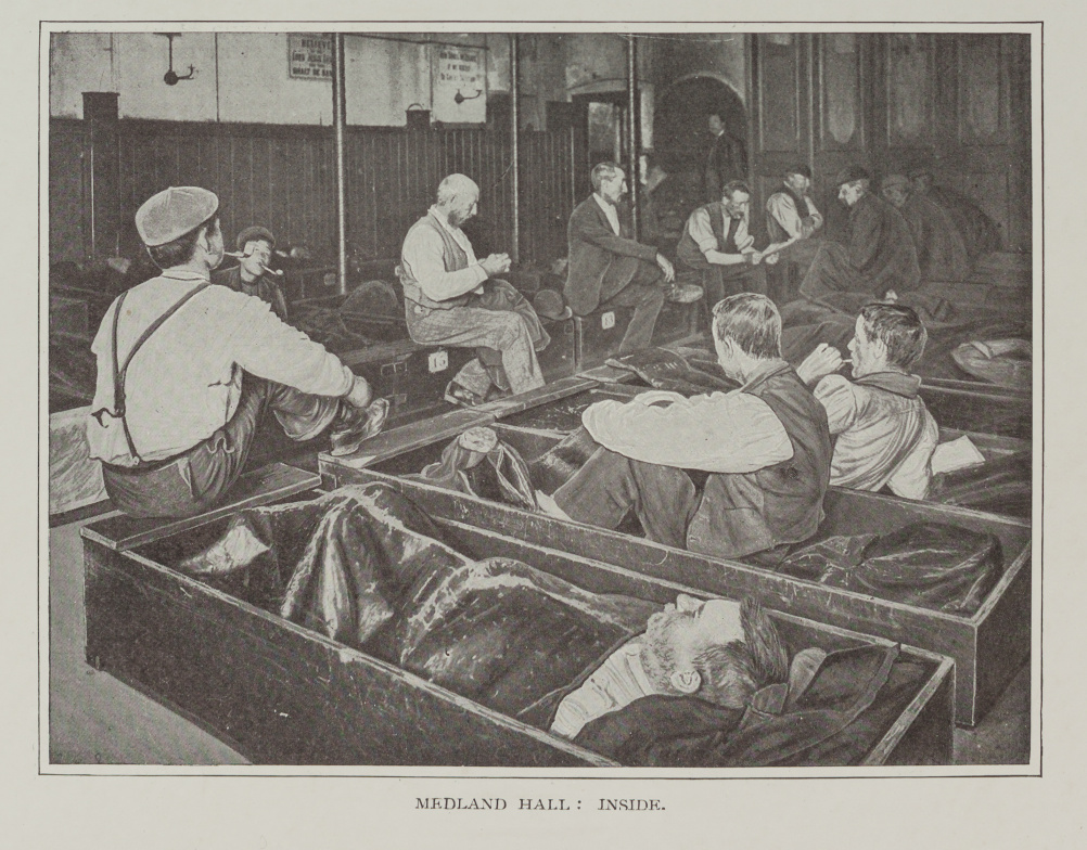 Men in coffin beds in a Salvation Army Shelter c.1900. The Salvation Army Heritage