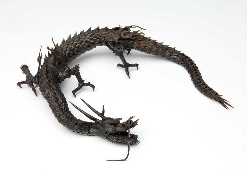 Miochin family, Articulated dragon, Circa 1870. Iron