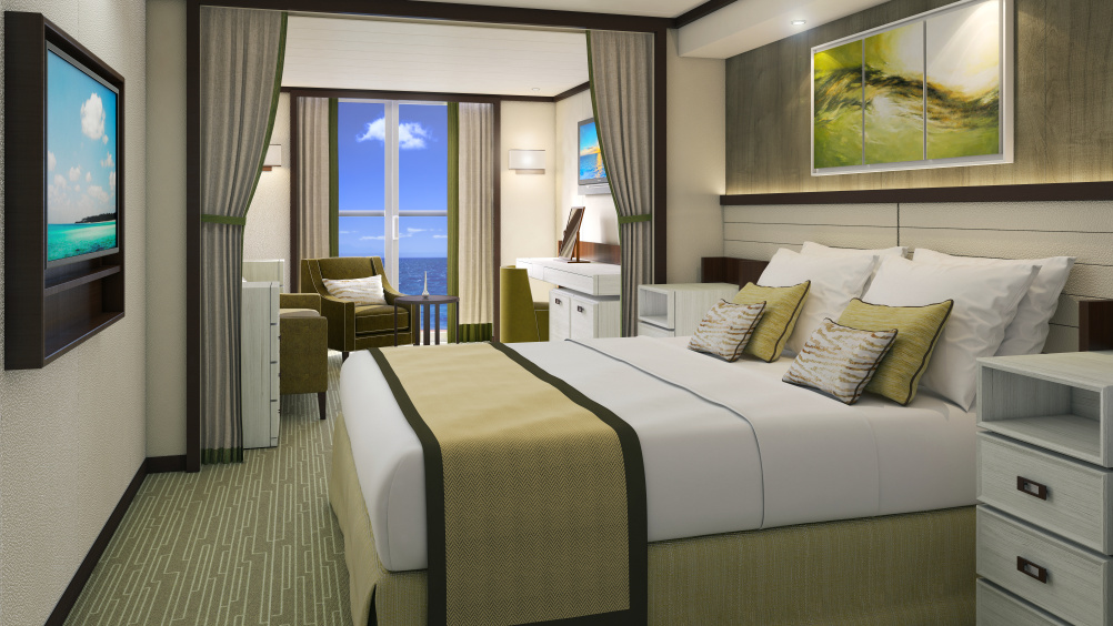 Designing the interiors for a 141 000 ton cruise ship for P o cruise bedrooms