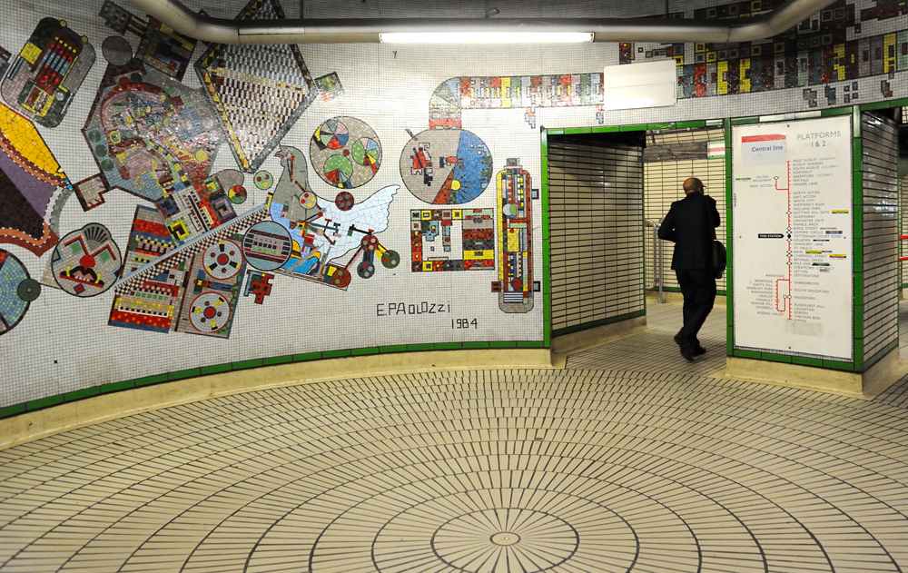 Paolozzi's original mosaic artwork, photographed in 2014