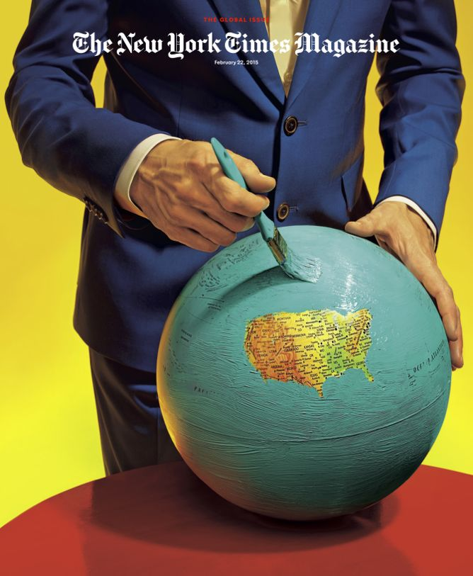New York Times Magazine cover by Maurizio Cattelan and Pierpaulo Ferrari