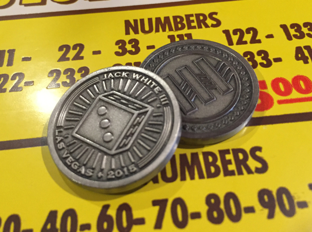 Special scratch-off coins
